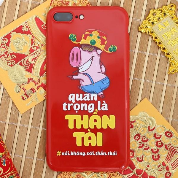 Ốp lưng iPhone 7 Plus -8 Plus Nhựa dẻo TPU Emboss Printing COSANO SR18110101 Thần tài