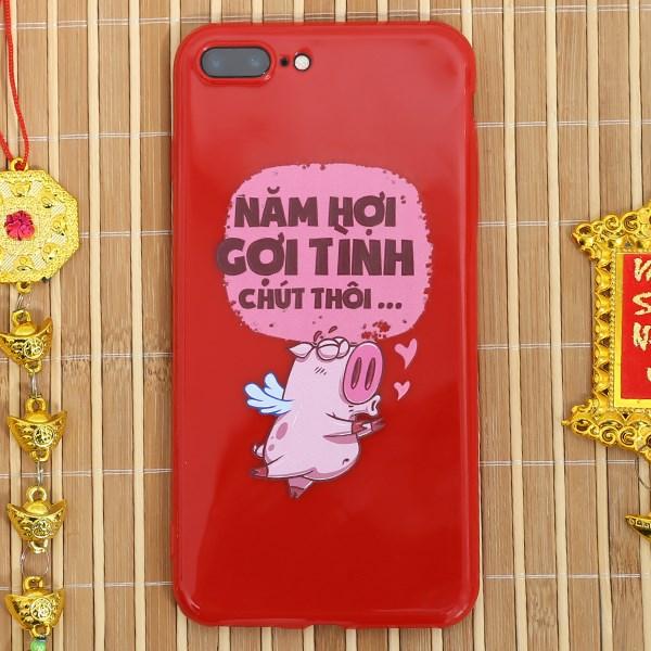Ốp lưng iPhone 7/8+ Nhựa dẻo TPU Emboss Printing COSANO SR18110102 Gợi tình