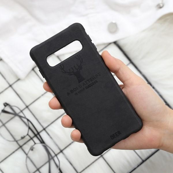 Ốp lưng Galaxy S10 Nhựa dẻo TPU + PU MEEKER TSK063 Đen
