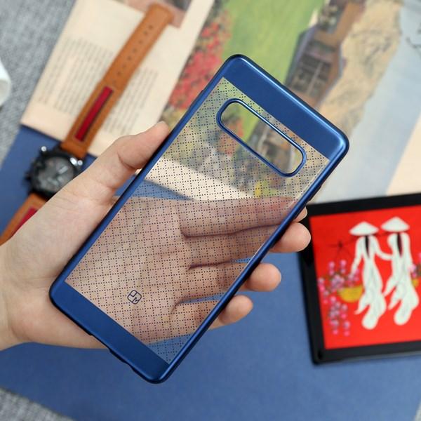 Ốp lưng Galaxy S10+ Nhựa dẻo Noisele TPU JM Xanh Nhạt