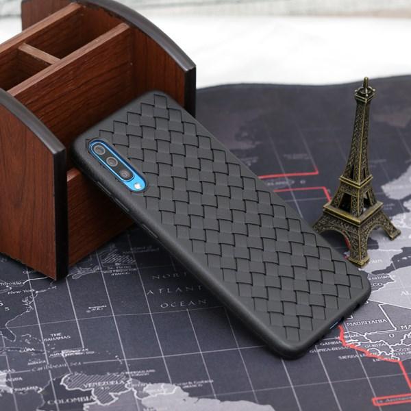 Ốp lưng Galaxy A50 Nhựa dẻo Woven OSMIA Đen