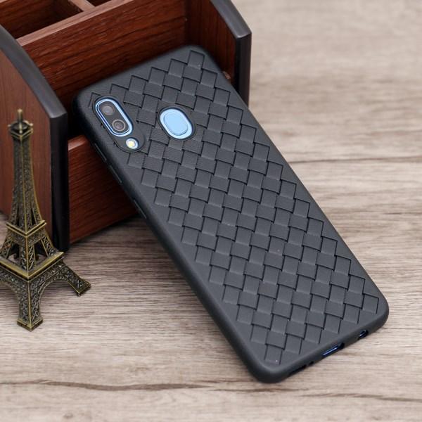 Ốp lưng Galaxy A30 Nhựa dẻo Woven OSMIA Đen