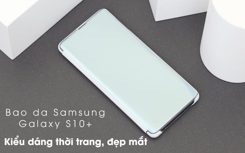 Bao da Samsung Galaxy S10+ Nắp gập Clear View Trắng