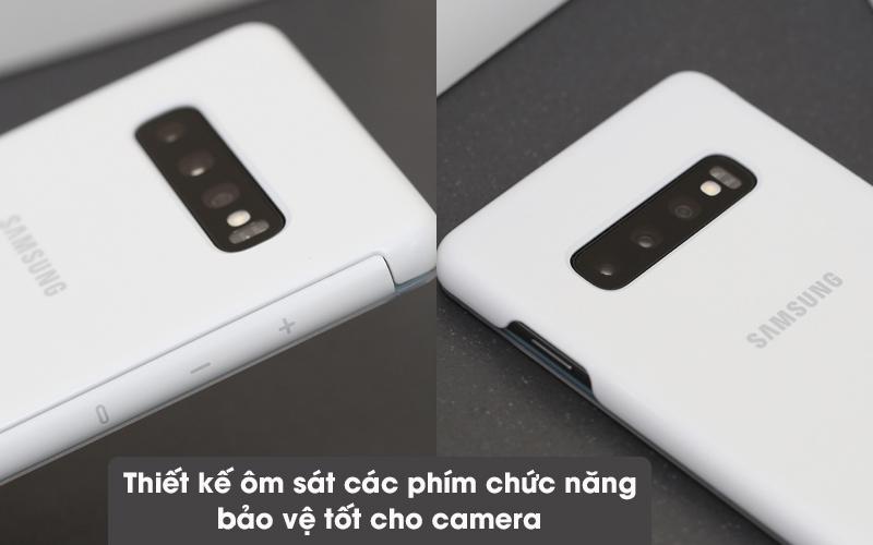 Bao da Samsung Galaxy S10+ Nắp gập Clear View Trắng - Vừa đúng các phím chức năng