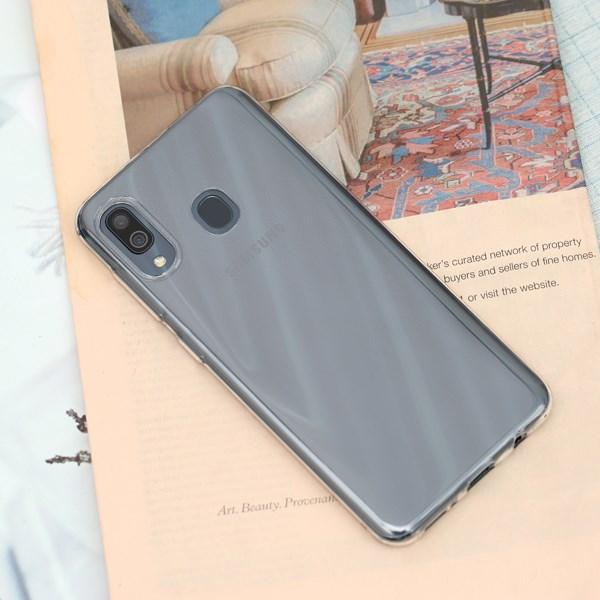Ốp lưng Galaxy A20 nhựa dẻo Nake Slim JM Nude