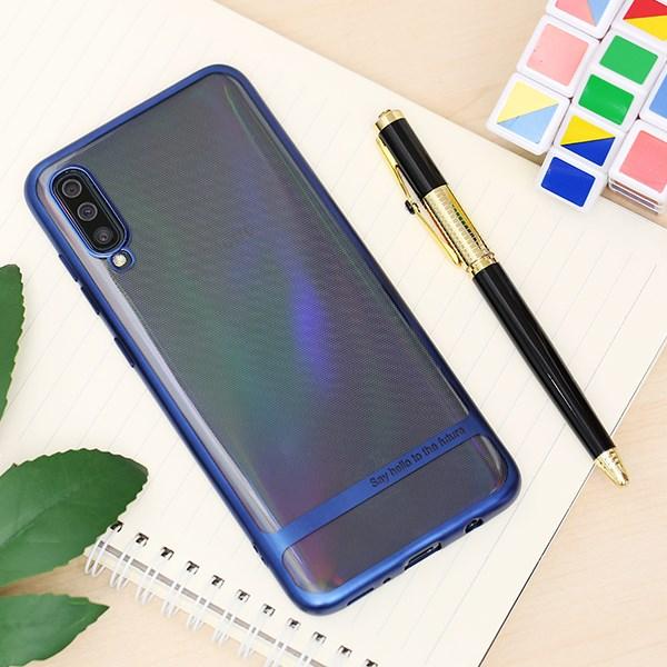 Ốp lưng Galaxy A70 nhựa dẻo Electroplating future COSANO Xanh
