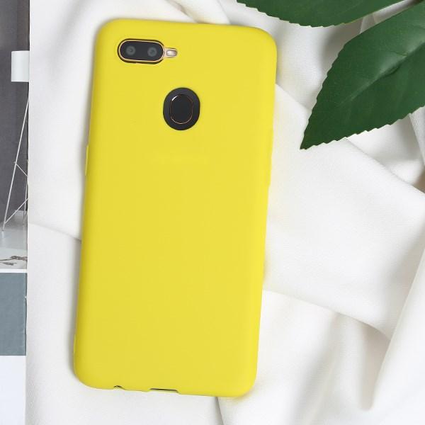 Ốp lưng Oppo A5s/A12 nhựa dẻo Candy MEEKER Vàng chanh