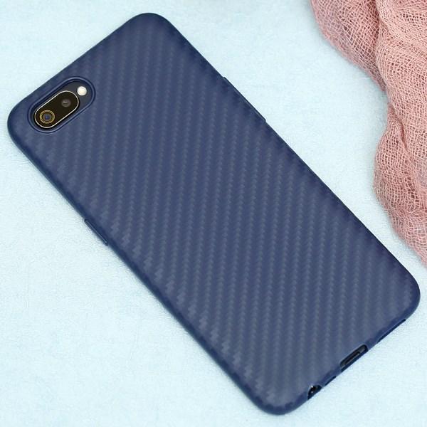 Ốp lưng Realme C2 Nhựa dẻo Carbon Fibre TPU COSANO Navy