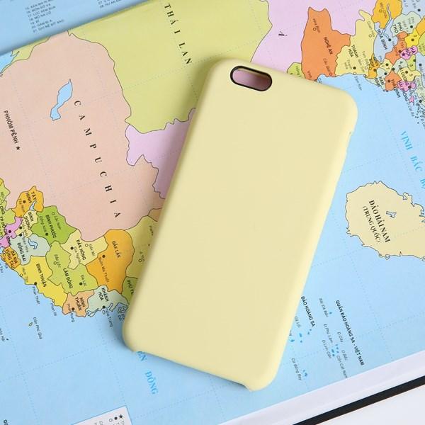 Ốp lưng iPhone 6/6s nhựa dẻo LIQUID SILICONE B JM Vàng dịu