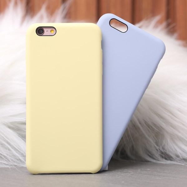 Ốp lưng iPhone 6/6s+ nhựa dẻo LIQUID SILICONE B JM Vàng dịu