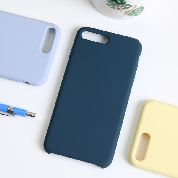Ốp lưng iPhone 7/8+ nhựa dẻo LIQUID SILICONE B JM Lục lam