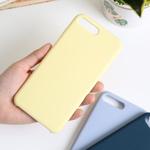 Ốp lưng iPhone 7/8+ nhựa dẻo LIQUID SILICONE B JM Vàng dịu