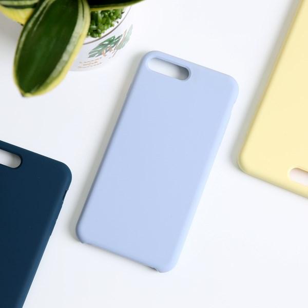 Ốp lưng iPhone 7/8+ nhựa dẻo LIQUID SILICONE B JM Xanh khói