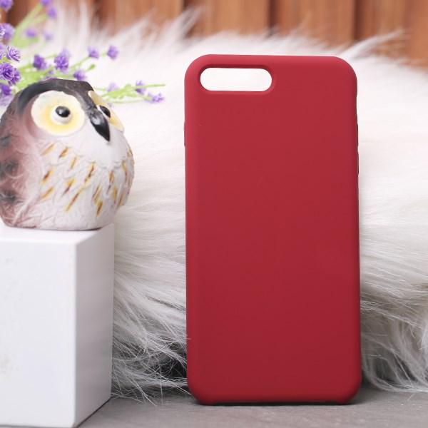 Ốp lưng iPhone 7/8+ nhựa dẻo LIQUID SILICONE B JM Đỏ đô