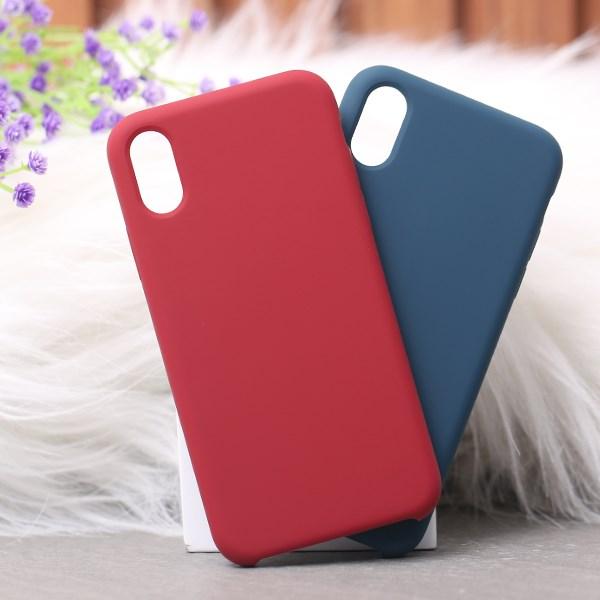 Ốp lưng iPhone X/Xs nhựa dẻo LIQUID SILICONE B JM Đỏ đô