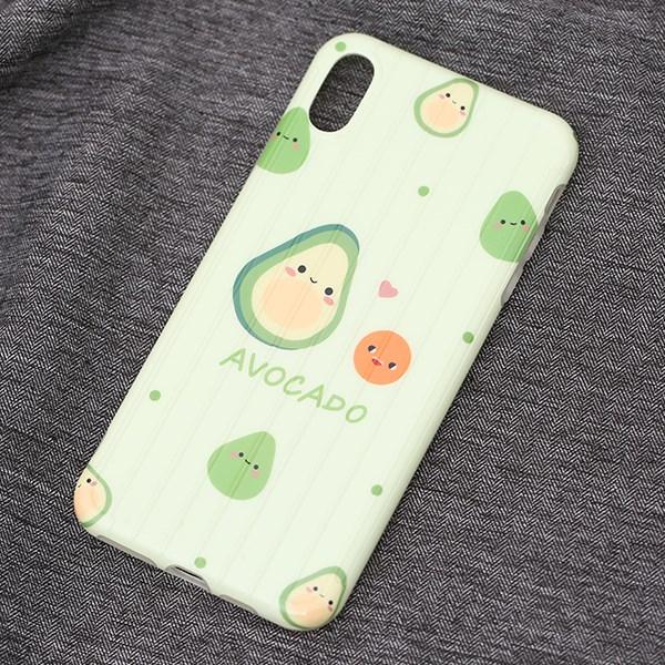 Ốp lưng iPhone Xs Max Nhựa dẻo Glossy IMD Luggage OSMIA CKTG190602 Quả bơ