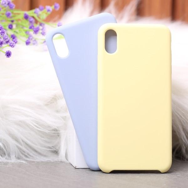 Ốp lưng iPhone Xs Max nhựa dẻo LIQUID SILICONE B JM Vàng dịu