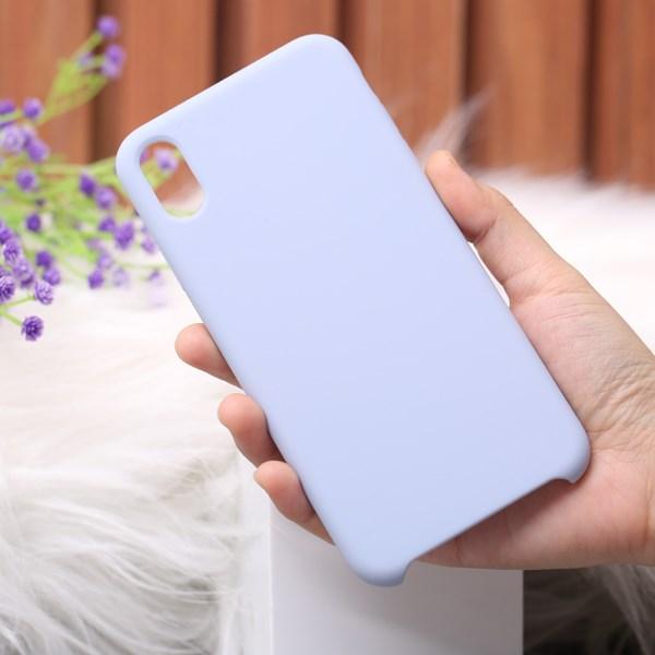 Ốp lưng iPhone Xs Max nhựa dẻo LIQUID SILICONE B JM Xanh khói