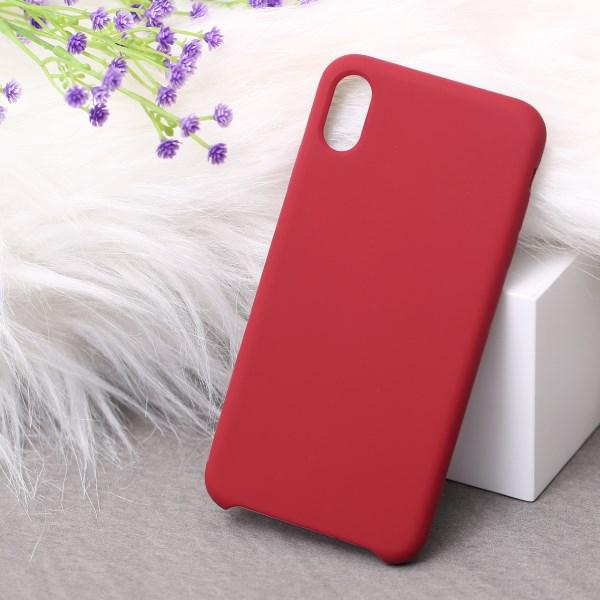 Ốp lưng iPhone Xs Max nhựa dẻo LIQUID SILICONE B JM Đỏ đô