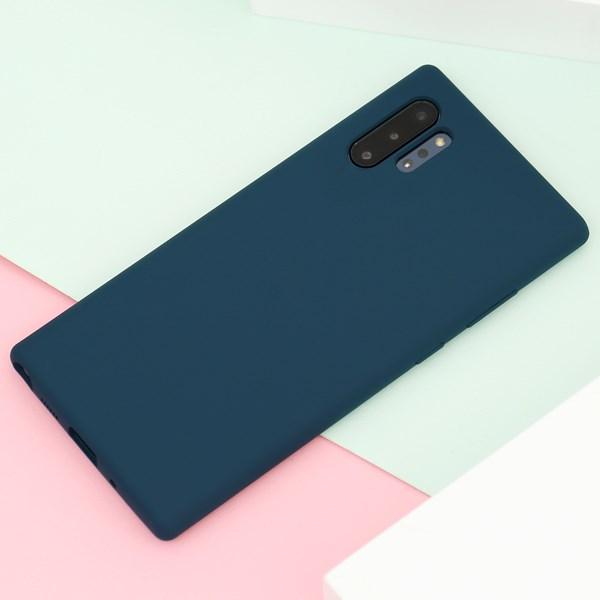 Ốp lưng Galaxy Note 10 Plus nhựa dẻo Liquid Silicone A JM Lục lam