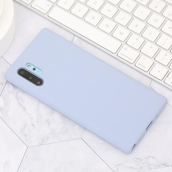 Ốp lưng Galaxy Note 10 Pro nhựa dẻo Liquid Silicone A JM Xanh khói