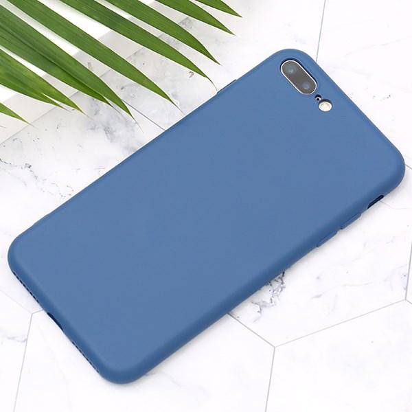 Ốp lưng iPhone 7/8+ Nhựa dẻo Silicone Felt COSANO Xanh navy