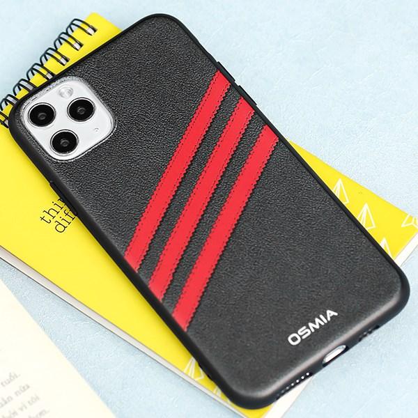 Ốp lưng iPhone 11 Pro Max Nhựa dẻo UV CKM490 Adidas Đen