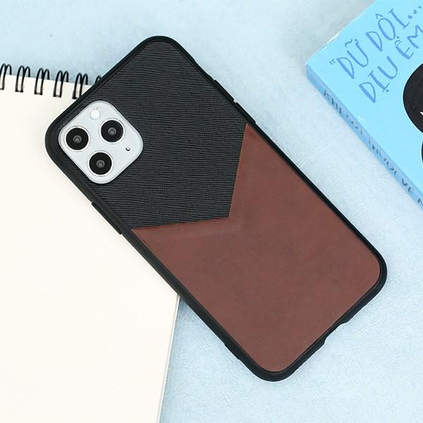 Ốp lưng iPhone 11 Pro Nhựa dẻo Casual Skin PU COSANO Nâu