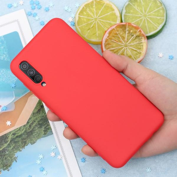 Ốp lưng Galaxy A50/A50s Nhựa dẻo Silicone Felt COSANO Đỏ