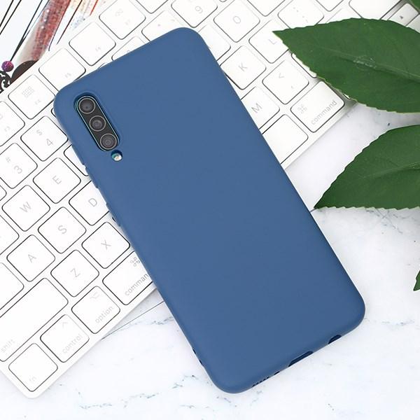 Ốp lưng Galaxy A50/A50s Nhựa dẻo Silicone Felt COSANO Xanh navy