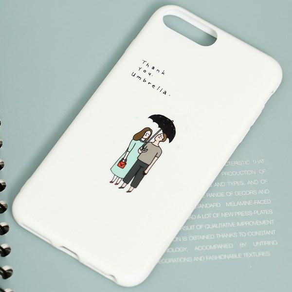 Ốp lưng iPhone 7/8+ Nhựa dẻo Water printing TPU MEEKER TSKB404 Chiếc ô