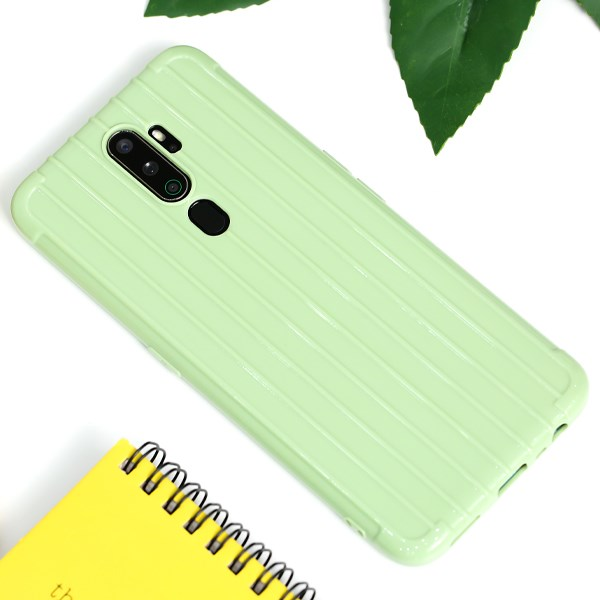 Ốp lưng Oppo A9 Nhựa dẻo Luggage style TKS-510 MEEKER Xanh Olive