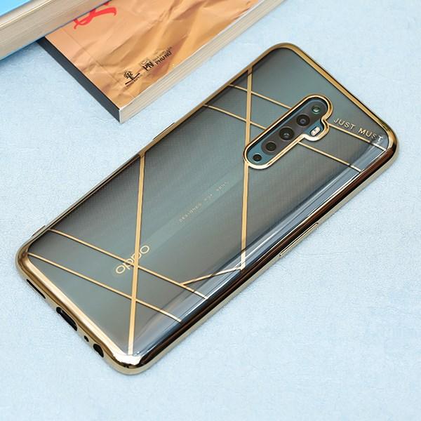 Ốp lưng Oppo Reno2 F nhựa dẻo ELECTRO TPU A JM Gold 3