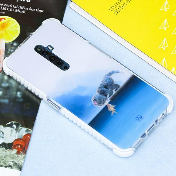 Ốp lưng Oppo Reno2 F nhựa dẻo Rainbowkit printing JM 19J181 Mèo trăng