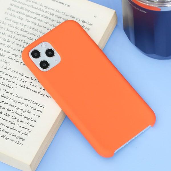 Ốp lưng iPhone 11 Pro nhựa dẻo LIQUID SILICONE B JM Clementine (Cam)
