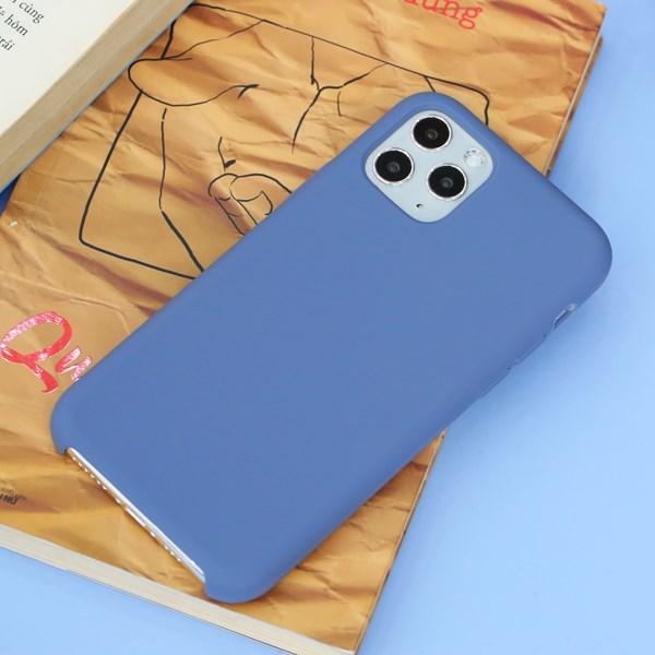 Ốp lưng iPhone 11 Pro nhựa dẻo LIQUID SILICONE B JM Xanh biển sâu
