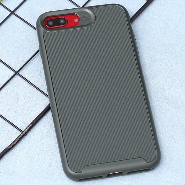 Ốp lưng iPhone 7/8+ Nhựa dẻo DUO LINES MEEKER Xanh rừng thông