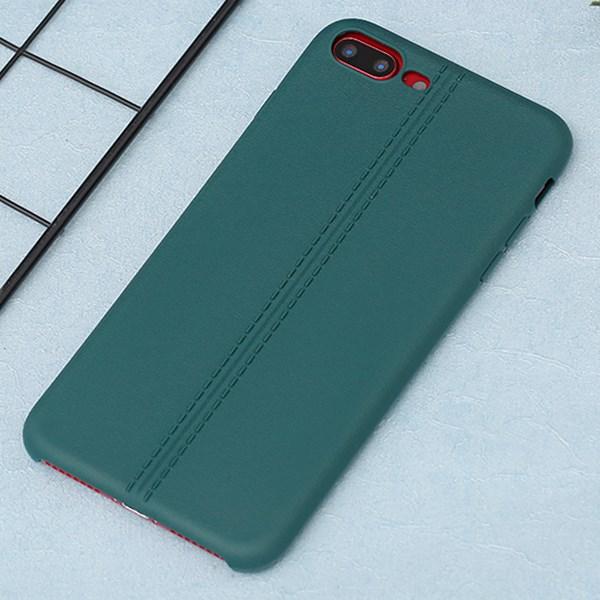 Ốp lưng iPhone 7 Plus/ 8 Plus nhựa dẻo Double line OSMIA Xanh rừng thẳm