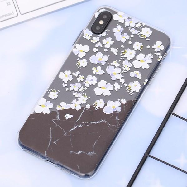 Ốp lưng iPhone XS Max Nhựa dẻo Printing Clear TPU MEEKER CN62509 Hoa đào nở