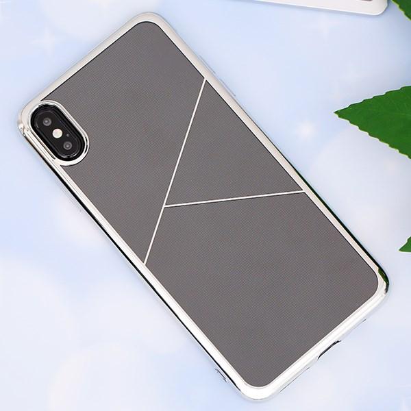 Ốp lưng iPhone XS Max nhựa dẻo TPU Electroplating Triple COSANO Silver