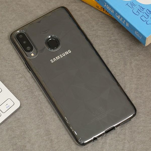 Ốp lưng Galaxy A20S nhựa dẻo Jewel Pattern COSANO Nude