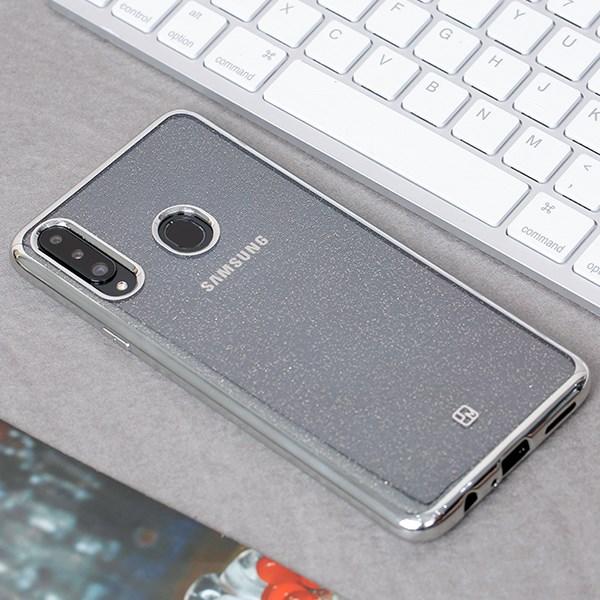Ốp lưng Galaxy A20S nhựa dẻo Skycloud II JM Bạc