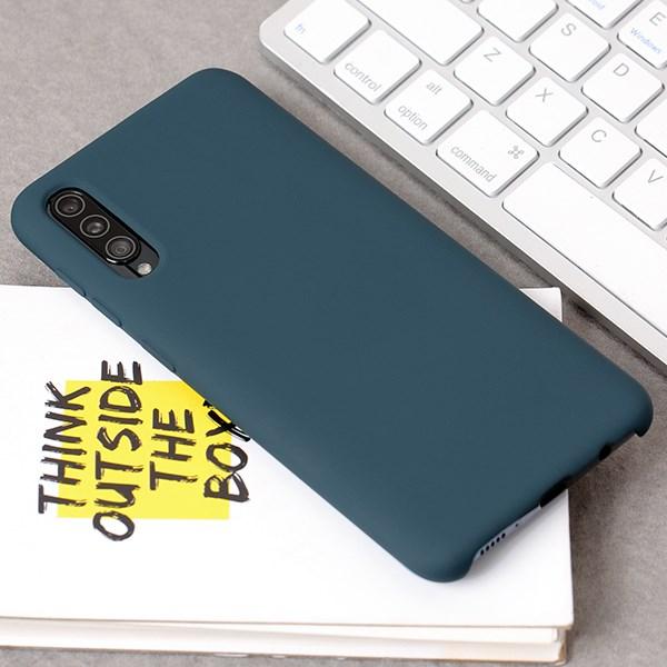 Ốp lưng Galaxy A50/A50S nhựa dẻo Fake Silicon JM Lục lam