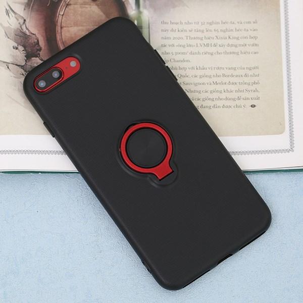 Ốp lưng iPhone 7/8+ nhựa dẻo CHESS RING JM Đen đỏ