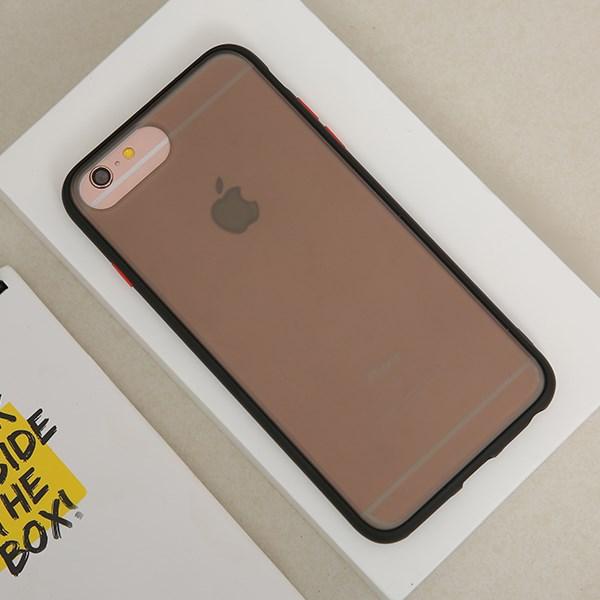 Ốp lưng iPhone 6/6s+ nhựa cứng viền dẻo Slim Kingkong JM Đen đỏ