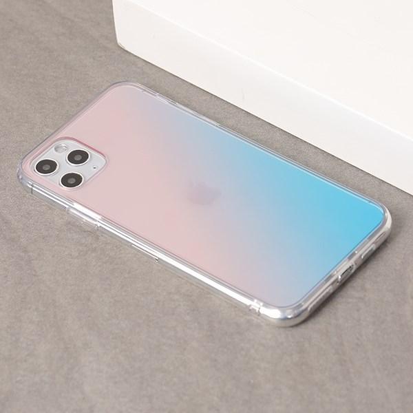 Ốp lưng iPhone 11 Pro Max nhựa cứng viền dẻo Berty I JM Hồng xanh