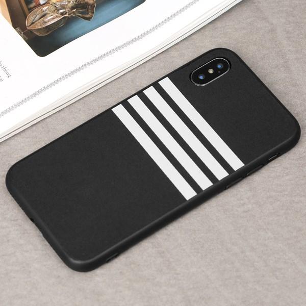 Ốp lưng iPhone X/Xs nhựa cứng viền dẻo PU Sport OSMIA Xám