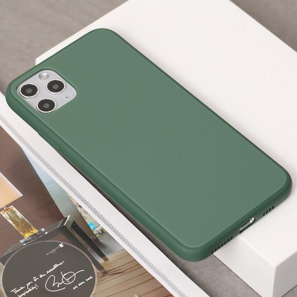 Ốp lưng iPhone 11 Pro Max nhựa cứng viền dẻo Tempered Glass silk OSMIA Xanh Bóng Đêm