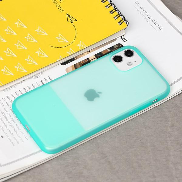 Ốp lưng iPhone 11 nhựa dẻo CONTRAST SILICONE JM Mint