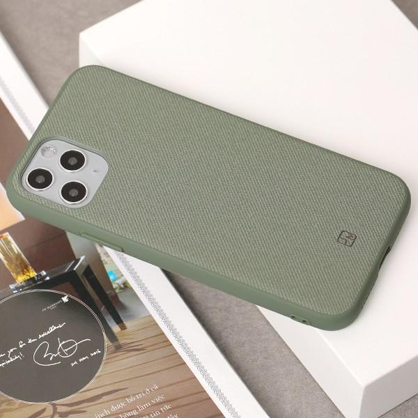 Ốp lưng iPhone 11 Pro nhựa dẻo Tex II JM Pine green